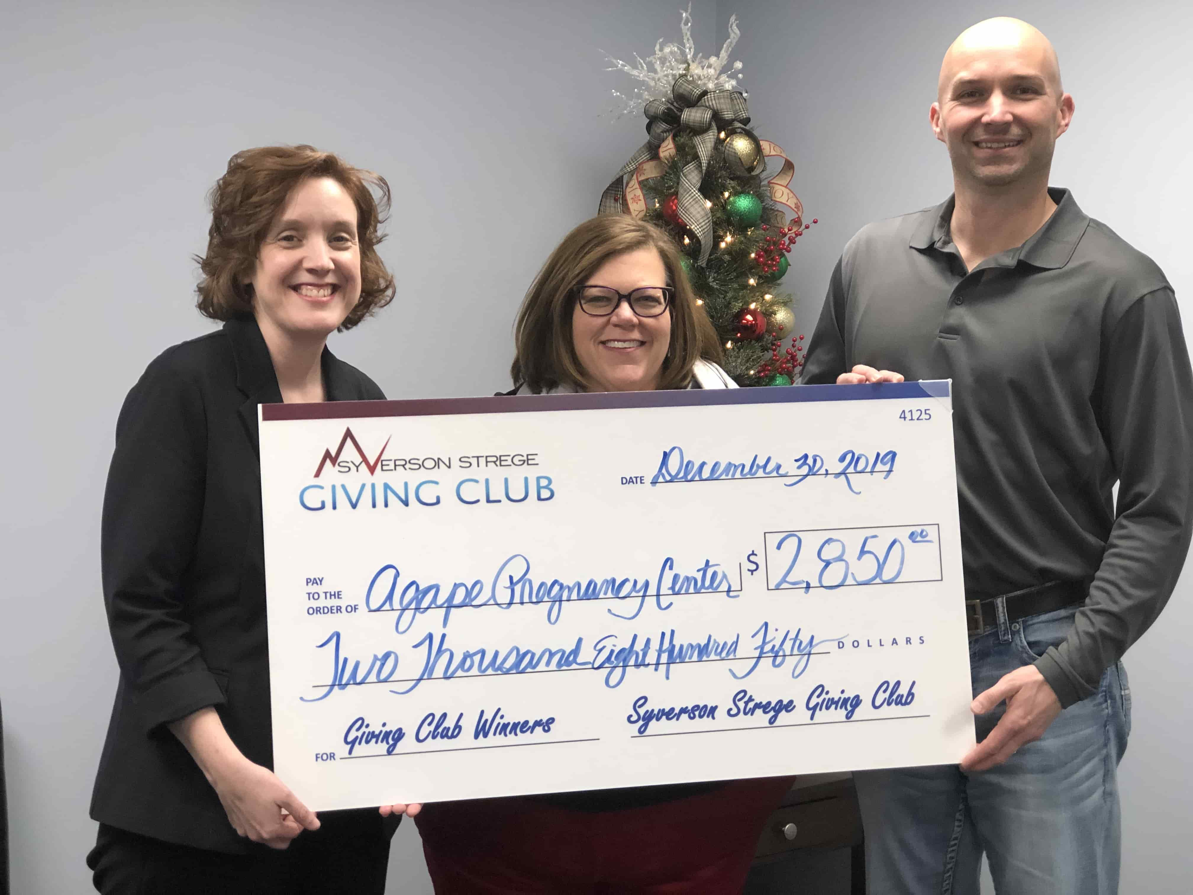Giving Club Agape Pregnancy Center