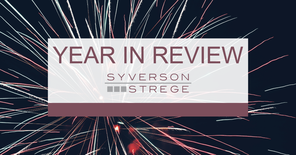 Syverson Strege takes a look back at some of the highlights of 2019