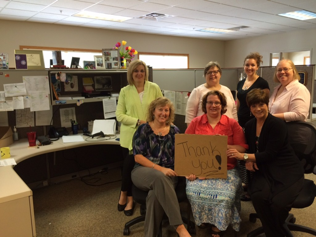 Hope Ministries Thank You for Cubicles