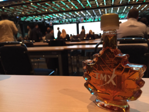 A fresh bottle of maple syrup is a sure sign you're in