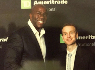 Lance and Magic Johnson at the TD Ameritrade 2015 Natio